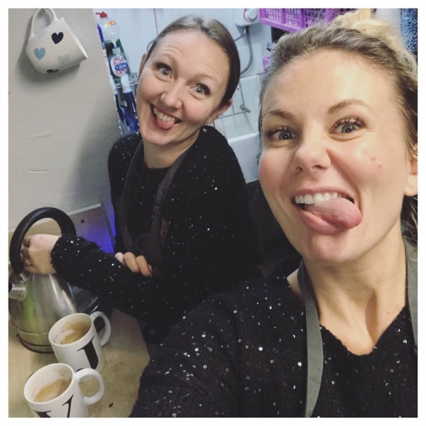 When the beginning of the rush feels like the end! 🙈💤… Matching Christmas jumpers ✅ chocolate as breakfast ✅ Tea with lots of sugar ✅ it's beginning to look a lot like Christmas 🌲#loveit #besttimeofyear #christmas #florist #busy #flowers #tired #supportlocal #gifts #home #victoriajaneflowers