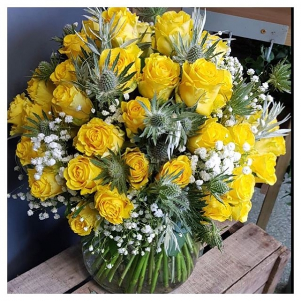 Yellow Rose anyone?.. One for every year of marriage.. who says romance is dead?! #yellowrose #pennylane #anniversary #floristshop