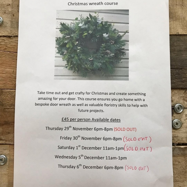 Such a fabulous response to our wreath workshops.. Meaning Only 3 spaces left on Wednesday 5th December.. Please contact us if you wish to book on. Thank you so much for your support 😊 #instaflorist #christmas #wreath #workshop #independent #victoriajaneflowers #retail #festive #handmade #creative #flower