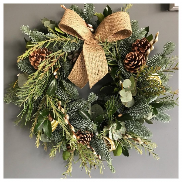 We are now taking pre orders for our Christmas door wreaths 🎄 ...#christmas #wreath #wreathmaking #foliage #succulents #christmaswreath #eucalyptus #pine #salix #insta #flowers #florist #natural #decorative #victoriajaneflowers
