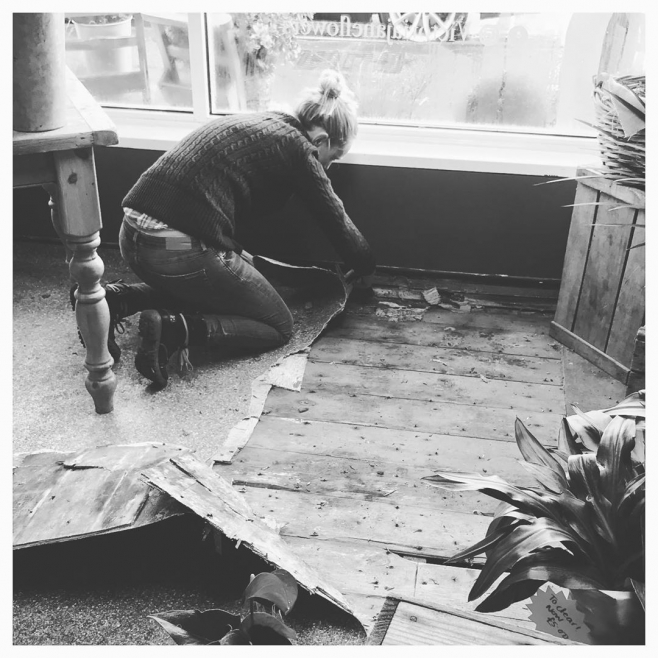 """""""If you want something said, ask a man; if you want something done, ask a woman. 💪🏼 @victoriajaneflowers super proud of us!.. the best is yet to come! #independantwomen 🍃....#buisness #flowershop #workhardplayhard #newfloor #excited #shop #owner #burnham"""