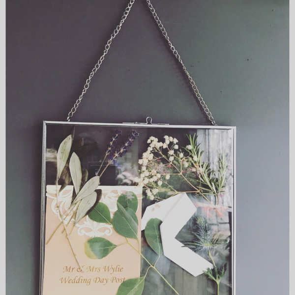 Our memory frame ❤️ Now an add on available with our wedding packages For £30.00 we hand pick a few materials from your wedding bouquet, dry them and frame for you to keep and treasure forever 💒 ..#love #marriage #keepsake #memories #driedflowers #frame #wedding #florist #flowershop #happy #victoriajaneflowers