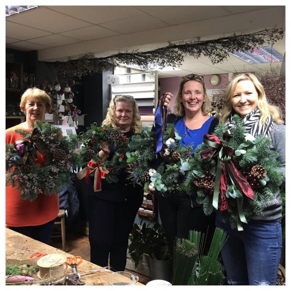 Fabulous weekend full of our Christmas wreath workshops! 🎄it always amazes me just how much fun the classes are to hold! The standard of the wreaths being made are outstanding! Thank you to everyone so far for making our job so easy! Ready for the next lot! 😁🎄 .#wreathmaking #christmasdecor #workshop #getcreative #happy #lovemyjob #lucky